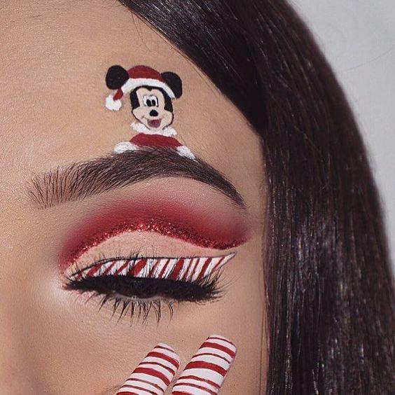 36 Christmas Day Makeup Looks to Try This Season; Christmas makeup .