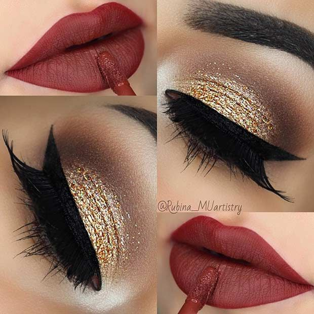 43 Christmas Makeup Ideas to Copy This Season | StayGlam .