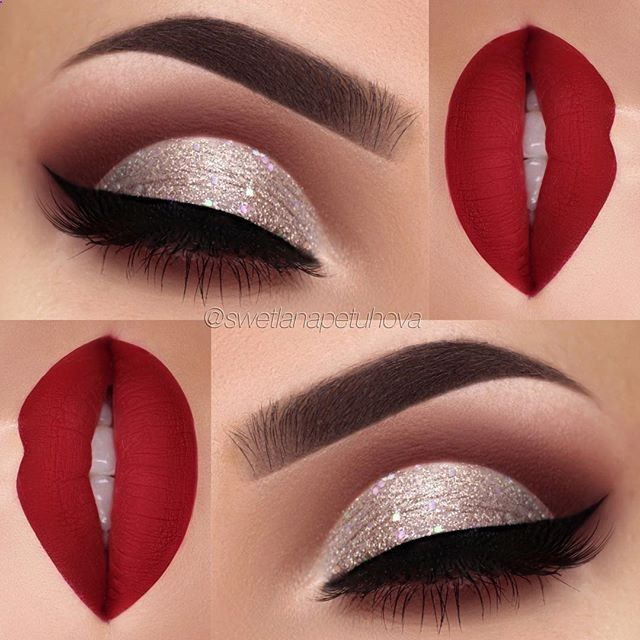 40 Christmas Makeup Ideas That Are In Trend #photography #l .