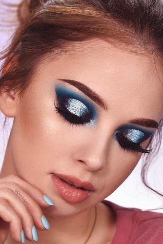 48 Amazing Glitter Christmas Makeup Ideas | Christmas makeup .