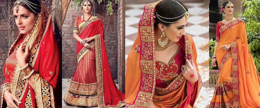 Indian Wedding Saree Latest Designs & Trends 2020-2021 Collecti
