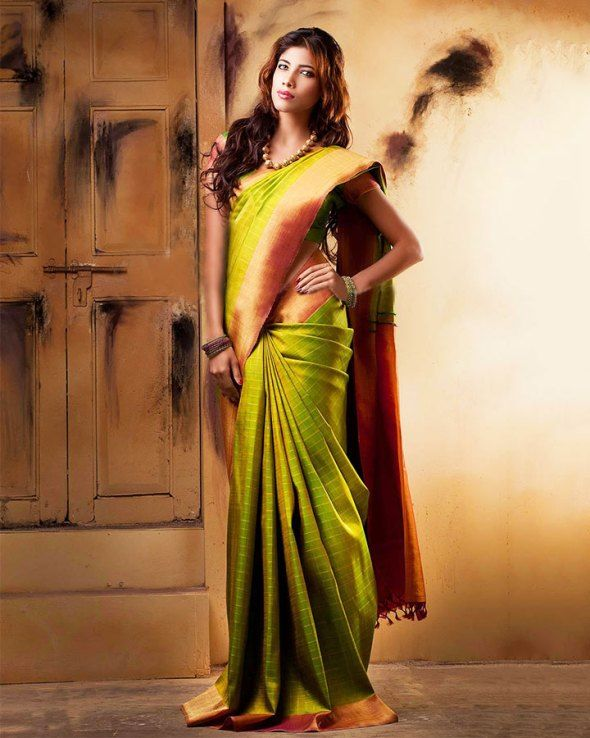 Green Wedding Saree Design for South Indian, Top 10 South Indian .