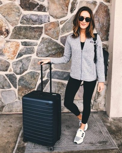 athleisure comfy travel outfit | Comfy travel outfit, Travel .