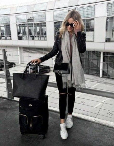 Classic And Casual Airport Outfit Ideas32 | Airport outfit .