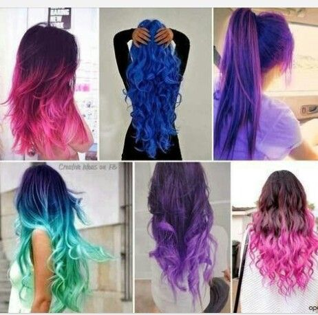 These are some really cool hair coloring ideas for the summer .