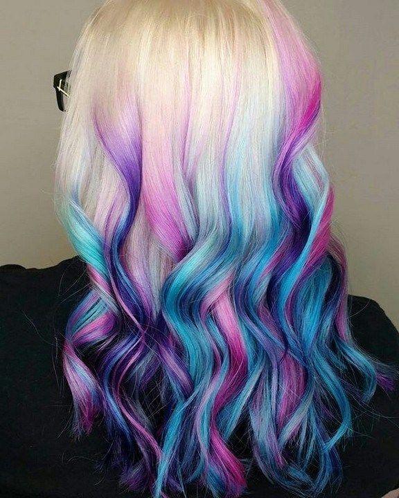37 Vibrant And Pastel Mermaid Hair Color Ideas #haircolor .