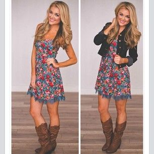 fall outfit cute for country concert | Cowgirl dresses, Country .
