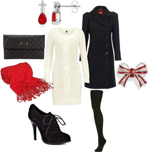 Christmas party outfits 03 | Cozy dress outfit, Holiday outfits .