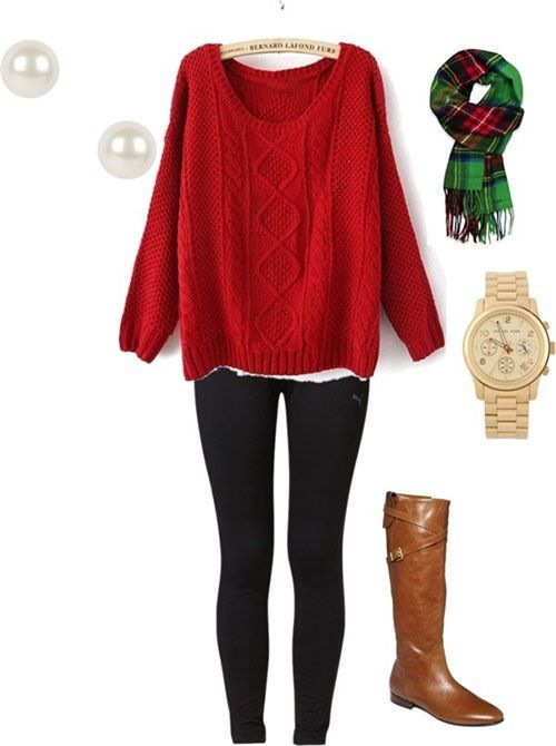 25 Cozy Outfit Ideas to Wear at Your Christmas | Christmas outfit .