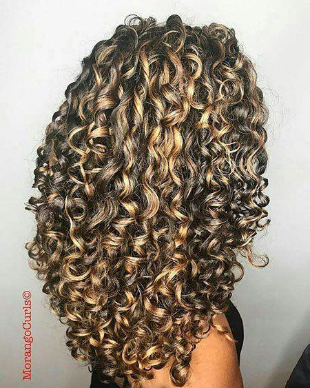20 Long Curly Hair Color Ideas: #5. Curly Hair; #longhair .