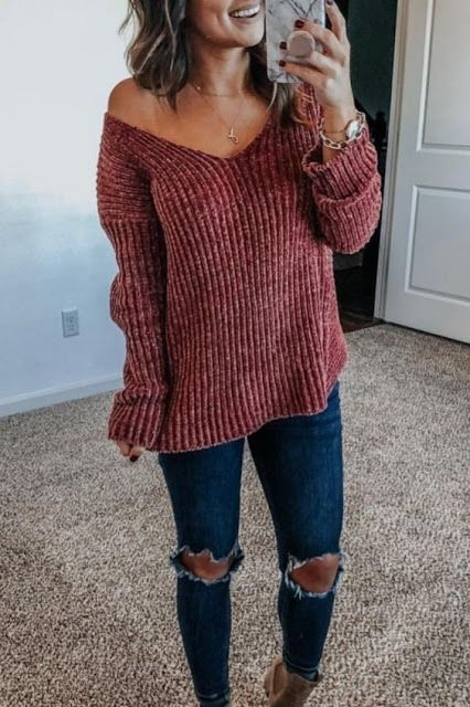 Super Cute Fall Outfit Ideas 2019 | Cute fall outfits, Fashion .
