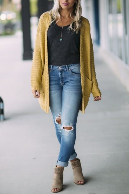 Super Cute Fall Outfit Ideas 2019 | Cute fall outfits, Cardigan .