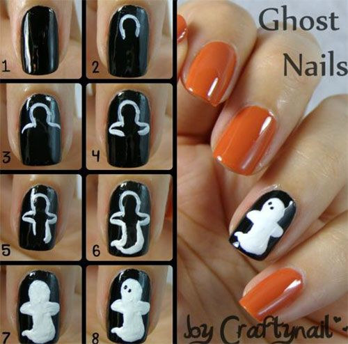 20 Easy Step By Step Halloween Nail Art Tutorials For Beginners .
