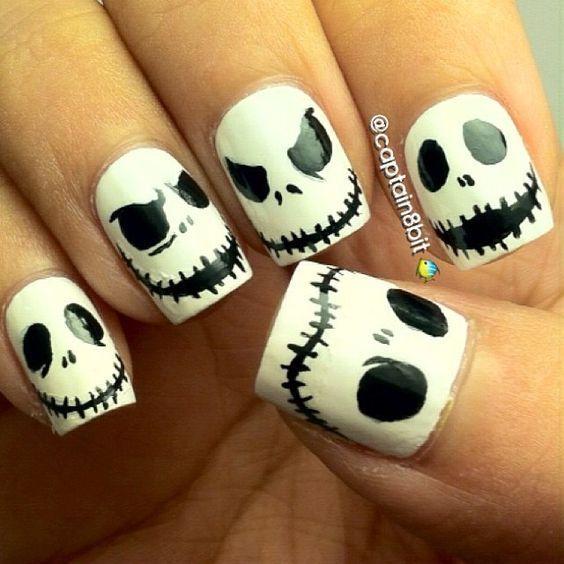 60 Easy Halloween Nail Art Designs for October Easy Halloween .