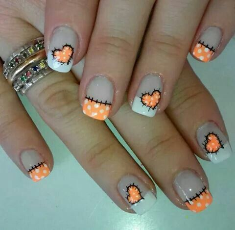 Cute-Stitching | Easy DIY Halloween Nail Designs Ideas .