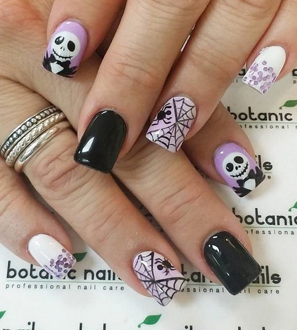 40+ Cute and Spooky Halloween Nail Art Designs - Listing Mo