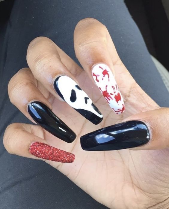 Easy Halloween Nail Art Ideas for Teens (With images) | Halloween .