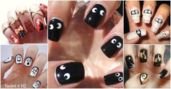 40+ Spooky and Creative DIY Halloween Nail Art Ide