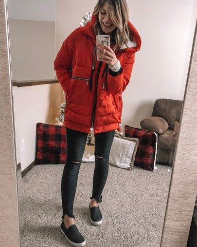 THE amazon jacket in red | Fashion, Stylish winter jacket, Red .