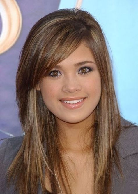 Haircuts cute hairstyles for medium length hair with side bangs .