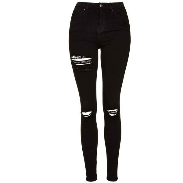 Women's Topshop Destroyed High Rise Ankle Skinny Jeans .