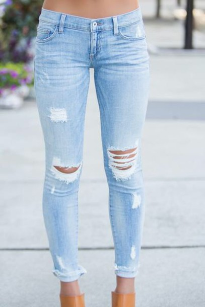 pants, skinny jeans, ripped jeans, jeans, denim, cute, tumblr .