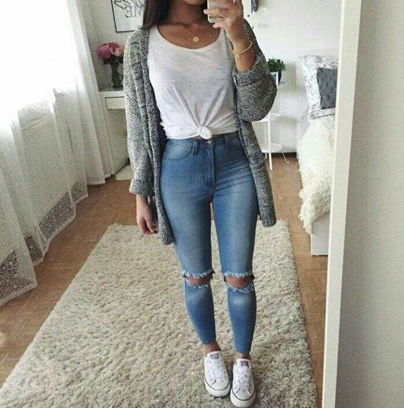 41 Cute Spring Outfits Ideas For Teens (With images) | Cute fall .