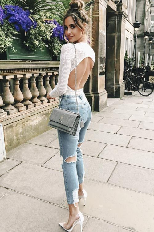 75+ Preppy Summer Outfits You Need Now - Jeans white top - #Jeans .