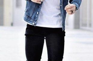 niccolo_leone_ph - Fall street wear combo white t-shirt blue denim .