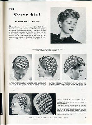The Cover Girl in 2020 | Vintage hairstyles, 1940s hairstyles .