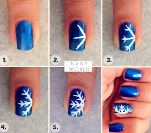 Snowflake Nail Art Made Easy!   Cute christmas nails, Christmas .