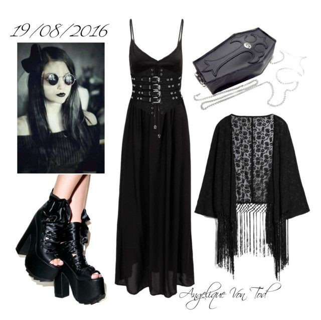 Gothic Summer Outfit | Summer dress outfits, Goth dress, Summer .