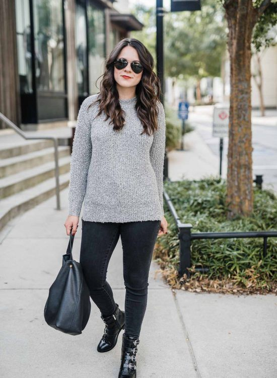 flat buckle boots | Simple fall outfits, Autumn fashion women .