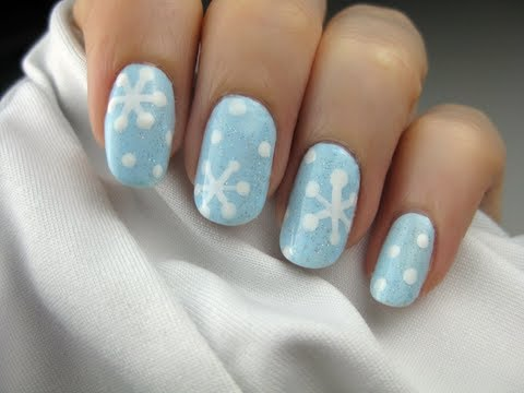 Easy Snowflake Nail Art - YouTu