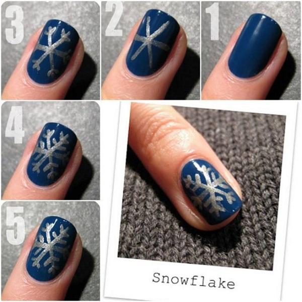 Easy DIY Christmas Nail Art Ideas Tutoria
