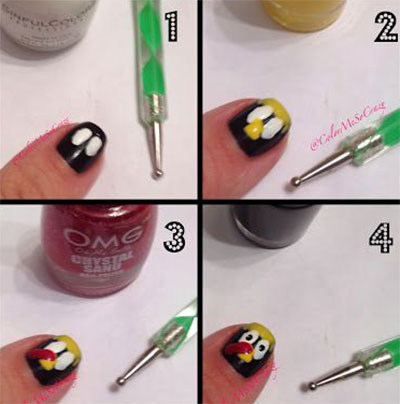 Simple Step By Step Thanksgiving Nail Art Tutorials For Beginners .