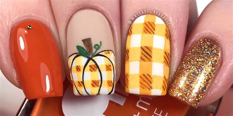 15 Thanksgiving nail art ideas for beginners and exper