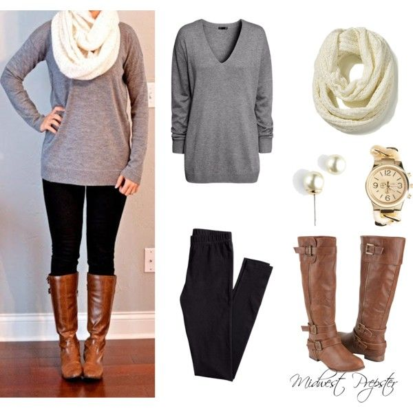 cute and easy outfit! winter outfit | Cute outfits, Chic sweaters .