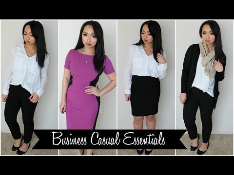 How to Build a Work Wardrobe - Business Casual Essentials .
