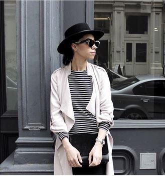 Tamira Jarrel wearing an ashley B blush jacket in NYC! | Fashion .