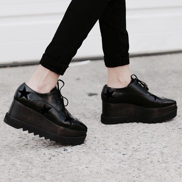 Still my faves @stellamccartney #loaferaddict | Fashion, All black .