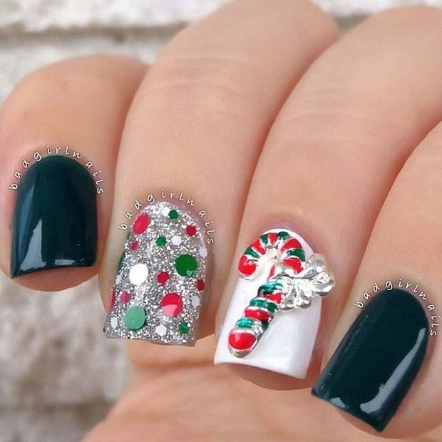 29 Festive Christmas Nail Art Ideas | Beau