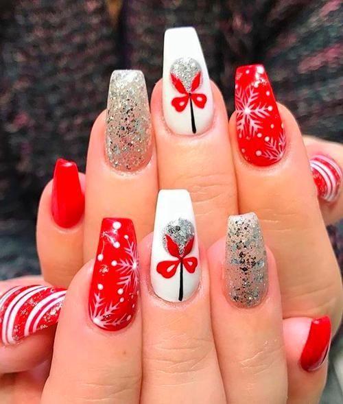 Nails 54 festive christmas nail art ideas, winter nail art ideas .
