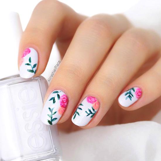 floral-summer-nail-designs | Ecemel