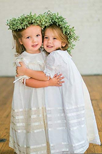 Amazon.com: Lace Flower Girl Dress Heirloom Boho Vintage Portrait .