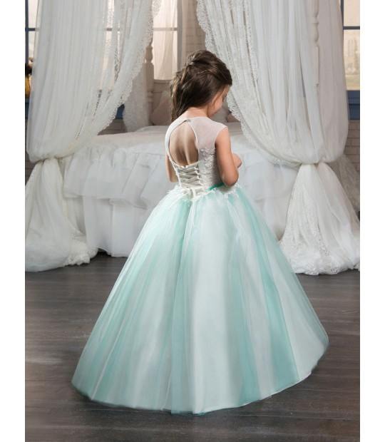 Vintage Ball Gown Flower Girl Dresses For Weddings Mint Toddler .