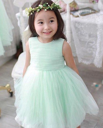 Mint Green Flower Girl Chiffon Tutu Dress. Mint Wedding Toddlers .