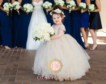 ️ MADE IN THE USA ️FLOWER GIRL TULLE TUTU by OliviaKateCoutu