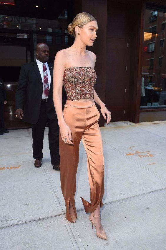 The Luxury Fabric Elegant Women Always Wear | Gigi hadid outfits .