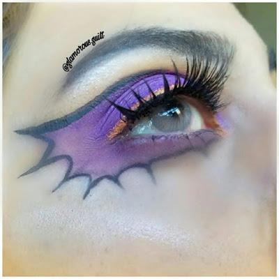 Halloween Makeup and Lip art - Bat Wi